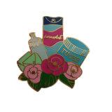 Kundenspezifisches Firmenzeichen-Goldharter Decklack-FunkelnPin für Förderung-Geschenke