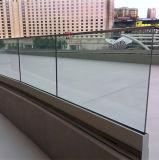 안전 상점가 스테인리스 층계 Frameless 유리제 방책