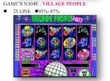 A linha &#160 dos povos -25 da vila; Máquina de jogo a fichas da máquina de jogo da máquina de jogo do entalhe