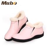 Zapatos ocasionales del color de la manera de las mujeres planas rosadas de la corderina