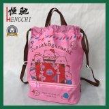Impressão personalizada mochila impermeável de poliéster saco para roupa suja
