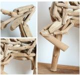 Украшений рождества подарка дня рождения/рождества Figurines дома/офиса оленей 100% творческого деревянного декора таблицы корабля симпатичное Handmade естественных деревянных