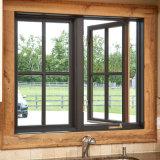 열 틈 이중 유리를 끼우기를 가진 알루미늄 여닫이 창 Windows