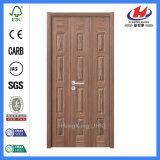 El laminado sólido de base de la teca de EV diseña las puertas de madera de la chapa (JHK-013)