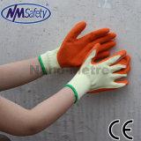 Le latex bleu Nmsafety paume enduite de gants de travail sécuritaire