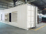 40gp Containerized Cummins 1MW 디젤 엔진 발전기 1250kVA