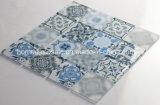 El Peltre azulejos cuadrados decorados Tamaño de hoja de 298x298mm Qatar de vidrio para la decoración del hogar Cocina Mosaico