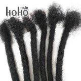 Commercio all'ingrosso capelli umani Dreadlocks del Crochet crespo di Afro del nero di 20 pollici