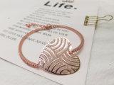 Nam de Goud Geplateerde Eenvoudige Armband van de Vorm van het Hart van de Gift van de Valentijnskaart van het Ontwerp Grote met de Diamant van de Steen Zircon toe