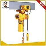 高品質0.5-5トンの低いヘッド部屋のトロリーが付いている電気チェーン起重機