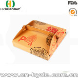 La impresión de OEM/ODM Brown empaquetado de alimentos manejar la caja de pizza