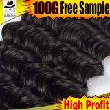 Qualidade superior superior onda profunda brasileira de cabelo humano