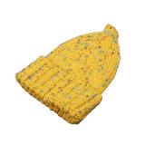 子供の赤ん坊はからかう秋の冬の暖かい編まれた帽子の転換のまつげヤーンの帽子の帽子(HW624)を
