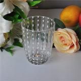 Transparant het Drinken Glas met de Punten van de Kleur