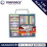 Mercury&Cadmium freie China Fabrik-ultra alkalische Batterie mit Belüftung-Kasten (D/C/AA/AAA/9V)