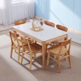 Mobiliário moderno em madeira definida Restaurante mesa de jantar para Home