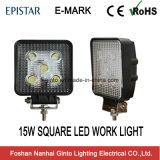 """Indicatore luminoso di funzionamento quadrato impermeabile di 6000K 4 """" 15W LED (GT2010-15W)"""