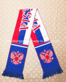 Связанный шарф футбола полиэфира