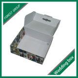 Fácil llevar la caja de embalaje del papel de alineada de boda con la maneta