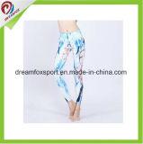 A ioga feita sob encomenda arfa caneleiras por atacado da ioga da compressão das mulheres da roupa da aptidão