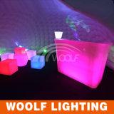 Тип стулы пластичного материала и мебели штанги кубика СИД Cube/LED/свет