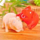 Distender il giocattolo di colore rosso del maiale del suono gridante di Shrilling del vinile
