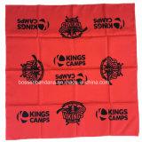 China-Fabrik-Erzeugnis kundenspezifischer Firmenzeichen-Druck-roter Paisley-Baumwollquadrat-Schal