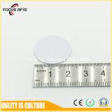 Etiqueta plástica MIFARE Ntag213 20m m del disco del PVC RFID de la alta calidad para la gestión de activos