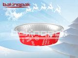 cuvette saine ronde colorée de traitement au four de gâteau de papier d'aluminium