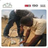Huis van de Villa van het Staal van lage Kosten het Prefab Lichte voor Afrikaan