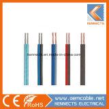 Câble d'enceinte transparent de couleur dépoli couple sur le fil de deux sur le fil de base
