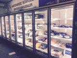 Refrigerador de vidro da porta com grande área de indicador e visibilidade superior