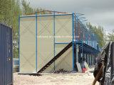 2개의 지면 살기를 위한 가벼운 강철 구조물 EPS 샌드위치 위원회 Prefabricated 집
