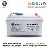 bateria solar do gel do Profundo-Ciclo de 12V60ah VRLA