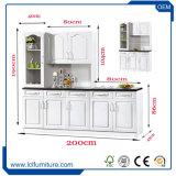 Keukenkasten van de Stijl van het land de Modulaire Witte pvc Afgedrukte voor Keuken