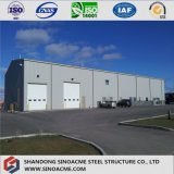 Edifício pré-fabricado de aço da estrutura do carbono com projeto e instalação