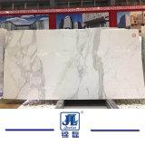Em Mármore Branco Polido Calacatta pedra para bancadas de trabalho/Projetado/Vanitytop/lajes de revestimento de Paredes Design Hotel Building