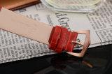 OEM van het Horloge van het Leer van het Horloge van het Geval van het roestvrij staal Echt Horloge voor Dames