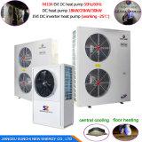 Salvar70% Power Cop4.23 R410A 380V 19KW, 35KW, 70KW, 105kw na Saída 60graus. C Bomba de calor para monobloco Dhw 12kw
