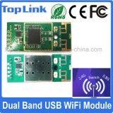 Top-4m02 802.11A/B/G/N se doblan acoplamiento sin hilos embutido USB de WiFi del soporte del módulo de la red de la venda 300Mbps Ralink Rt5572 WiFi