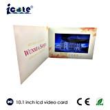 10.1 tarjeta de felicitación video del LCD de la venta de la pulgada 2014 de la invitación caliente del folleto/tarjeta video del asunto