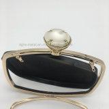 2017イブニング・バッグのハンド・バッグの化粧箱のための熱い真珠の上層の鉄フレーム