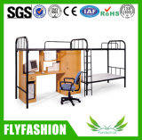 机およびキャビネットBd19が付いている学校の寮の金属の二段ベッド