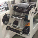 Etiqueta en blanco adhesivo rebobinadora cortadora longitudinal con troquelado