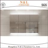 Gabinete fixado na parede da vaidade do banheiro do MDF do carvalho do PVC de N&L