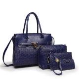 어떤 MOQ 2018 새로운 PU 가죽 4PCS도 없는 광저우 공장 주식은 새로운 디자이너 형식 PU 가죽 숙녀를 놓았다 Female Tote Women Bag