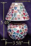 Zweckglasc$t-lite-Kerze-Halter des Mosaik-2/Öl-Lampe (WHC0311)