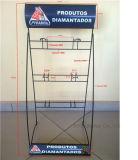 Подгонянный провод металла логоса собирает стеллаж для выставки товаров выставки инструментов стойки