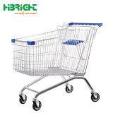 Zinc Plated Supermarkt Shopping Dirty Trolley Cart for