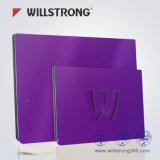 Matière composite en aluminium pliable de Willstrong de double de signe panneau blanc pur de panneau